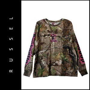 Russel Camouflage Long Sleeve Bucked T Shirt XL